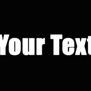 Your Text impact font Decal Window Sticker Car Truck White