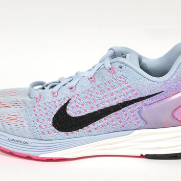Nike Women's Lunarglide 7 Grey/Pink Running Shoes 747356 400