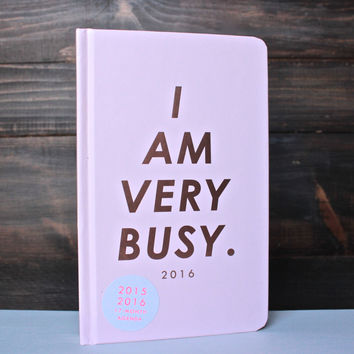 i am very busy 17 month classic agenda
