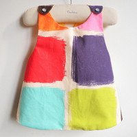 Girls Dress - Reversible Pinafore Top - French Style - The Montmartre - Sizes for babies, girls and toddlers from 6 months to 5Y