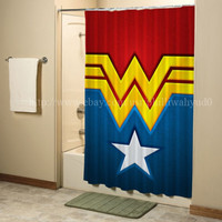 SUPER HERO WONDER WOMAN Shower Curtain High Quality Bathroom 60x72 Inch