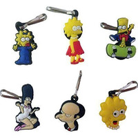 Simpsons Snap Hook Zipper Pulls 6 Pcs Set #1