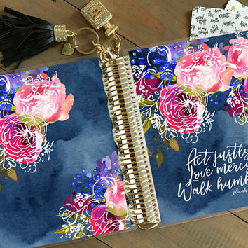 Original Stylish Planner™ Cover Set - Navy Love: For use with Erin Condren Life Planner(TM), Happy Planner and Recollections Planner