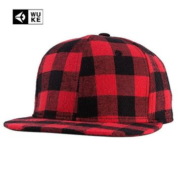 Trendy Winter Jacket 2018 New Straight Brim Hip Hop Snapback Caps Men Women Summer Winter Snapback Baseball Hat Red And Black Plaid Bones 2017 2016 AT_92_12