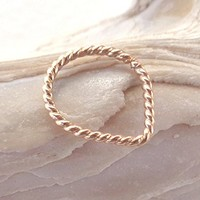 Septum Ring Triangle Tribal Twisted Nose Ring,Daith piercing ring,cartilage,helix,tragus,ear hoop earring