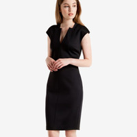 Neoprene suit dress - Black | Suits | Ted Baker