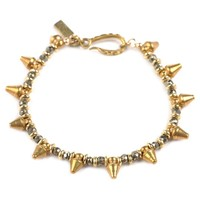 Vanessa Mooney Crash Dagger and Stone Bracelet - Brass