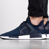 2017 Adidas NMD XR1 Primeknit PK Zebra Navy - BA7215 Sport Running Shoes Classic Casual Shoes Sneakers Boost-1