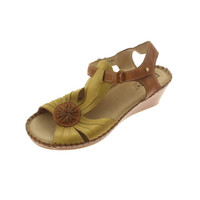Pikolinos Womens Leather Flower Wedges