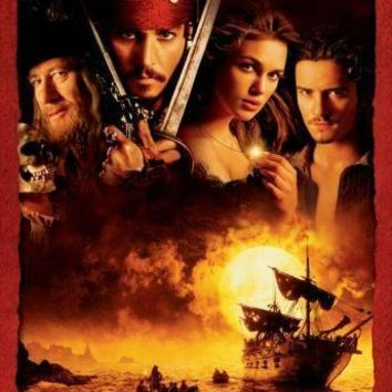 Pirates Of The Caribbean Cast no Text movie poster Sign 8in x 12in