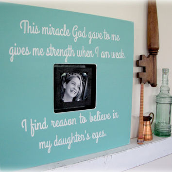 My Daughter's Eyes- Shadowbox Frame-Shabby Chic Typography Wall Art