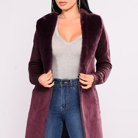 Snowed In Jacket - Burgundy