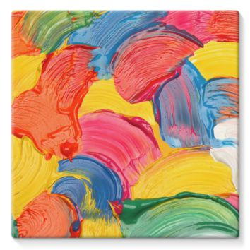Multicolored Wet Paint Swirls Stretched Eco-Canvas