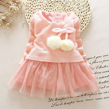 Toddler Girl Autumn Dress Christmas Costumes Baby Girls Princess Dresses 1 Year Birthday Gift Kids Party Wear Dresses For Girls