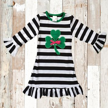 Girls St. Patrick's Day Shamrock Dress