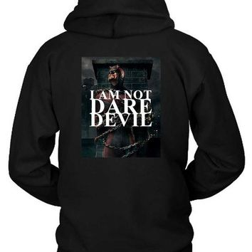 ESBH9S Marvel Dare Devil I Am Not Dare Hoodie Two Sided
