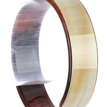 Brown Turtoise Lucite Cuff Bracelet