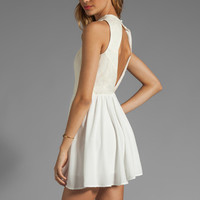 keepsake No Secrets Dress in Ivory