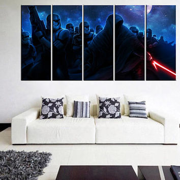 darth vager wall art print, darth vager star wars canvas, framed, star wars wall decor, bedroom wall art, art for kids room 11m03