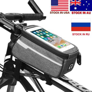 2018 New Mountain Bike Bag Cycling Bicycle Bag Pollice Gps Touch Screen Phone Rainproof Waterproof Nylon Bags Stock in US,AU