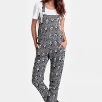 Take You There Printed Overalls