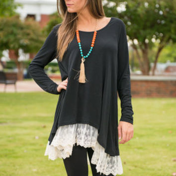 My Gondola Or Yours Tunic, Black
