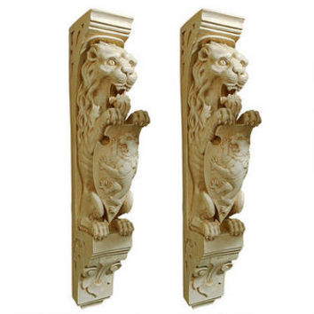 Manor Lion Wall Sculpture: Set of Two - EU931578 - Design Toscano