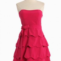 Graceful Waves Strapless Dress | Modern Vintage Dresses