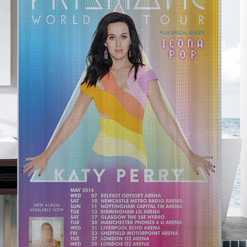 Katy Perry The Prismatic World Tour shower curtain