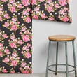 Walls Need Love Roses Removable Wallpaper- Black One