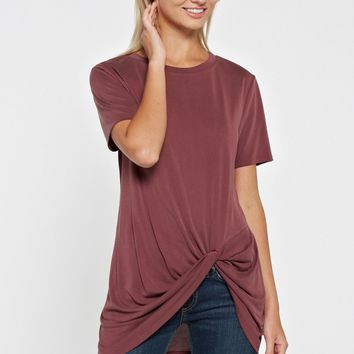 Knot Top - Burgundy