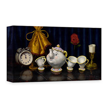 Disney Beauty And The Beast '' Time for Tea '' Giclée on Canvas Mrs. Potts Chip