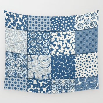 Tile Patchwork Wall Tapestry by Eileen Paulino