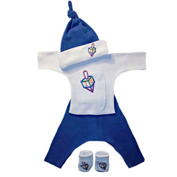 Baby Boys' Darling Dreidel 4 Piece Clothing Set