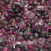 Mosaic tiles | Decorative mosaic | tiles art | Glass mosaic | Glass Pebbles | Mosaic Nuggets | Vase Marbles | Mini Purple 100g #29