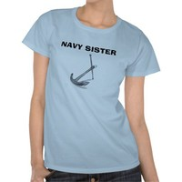 Navy Sister T Shirt from Zazzle.com