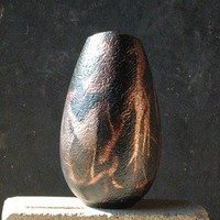 Raku Fired Modern Vase | madstone - Ceramics & Pottery on ArtFire