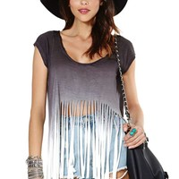 Nasty Gal Dip It Low Fringe Tee