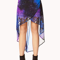 Cosmic Layered High-Low Skirt