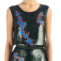 Cynthia Rowley - Floral Sequin Top | Tops by Cynthia Rowley