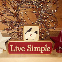 Country Blocks   Live Simple by RUSTICNORTHERN on Etsy
