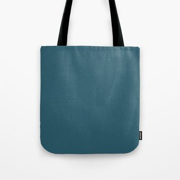 Teal The World (Blue) Tote Bag by Moonshine Paradise
