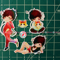 Haikyuu!! Kuroo Tetsuro Sticker Set + bonus sticker