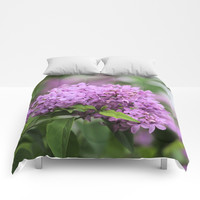 Lilac Bouquets Comforters by Theresa Campbell D'August Art