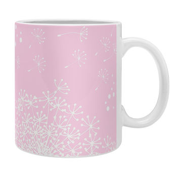 Monika Strigel Dandelion Snowflake Pink Coffee Mug
