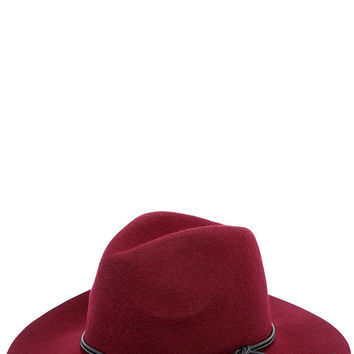 Oak Knoll Burgundy Fedora Hat