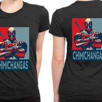 DCCKG72 Deadpool Chimingas Pop Art 2 Sided Womens T Shirt