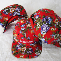 Supreme Women Men Embroidery Sport Sun Hat Baseball Cap Hat