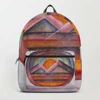 Geomtric landscapes 02 Backpack by Marco Gonzalez