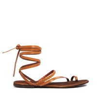 ASOS FAIRY Leather Flat Sandals